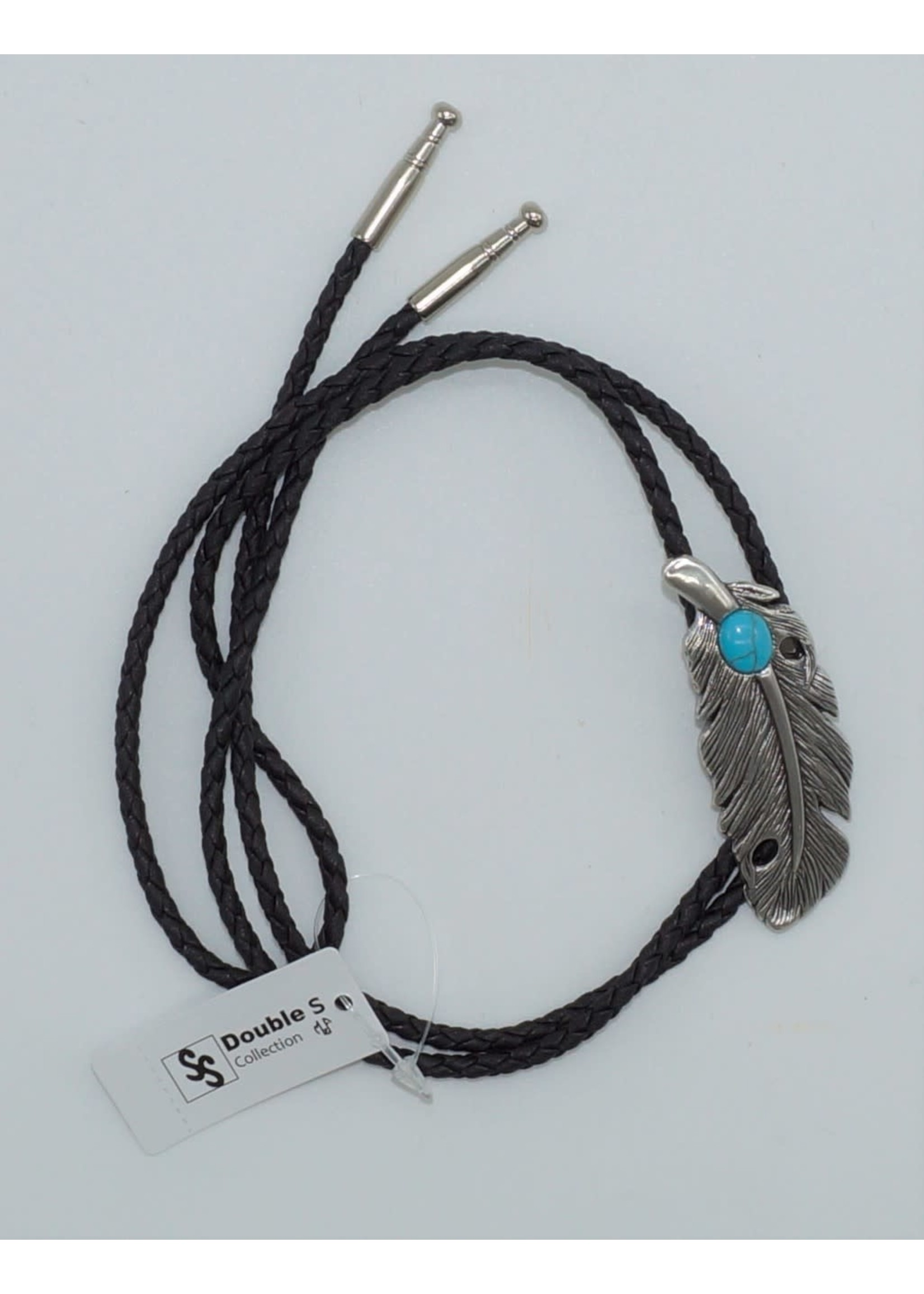 Double s Feather with Stone