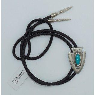 Double s Arrowhead Turquoise Bolo Tie