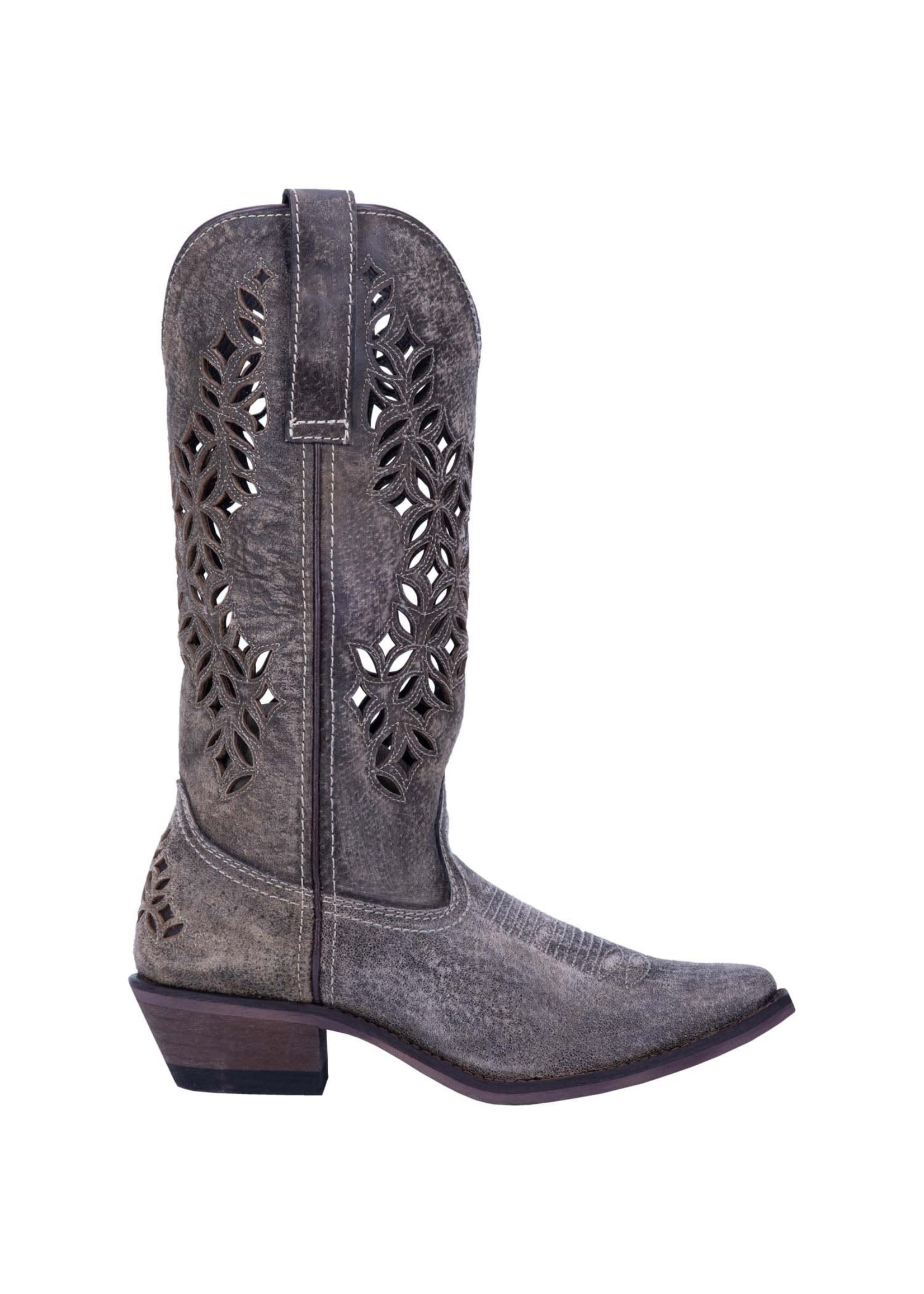 Laredo WOMEN'S CHOPPED OUT LEATHER BOOT 52317