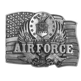 Siskiyou Gifts Air Force Antiqued Belt Buckle C92-BKL