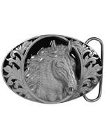 Siskiyou Gifts Horse Head (Diamond Cut) Enameled Belt Buckle I76D-BKL-DC