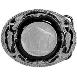 Siskiyou Gifts Buffalo Nickel Enameled Belt Buckle J3D-BKL-DC