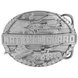 Siskiyou Gifts National Guard Antiqued Belt Buckle S92-BKL