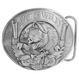 Siskiyou Gifts Hog Wild Antiqued Belt Buckle E77