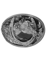 Siskiyou Gifts Horse Head (Diamond Cut) Enameled Belt Buckle M2D-BKL