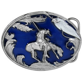 Siskiyou Gifts End of the Trail Enameled Belt Buckle C2E-ME