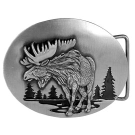 Siskiyou Gifts Moose in River Enameled Belt Buckle L3E
