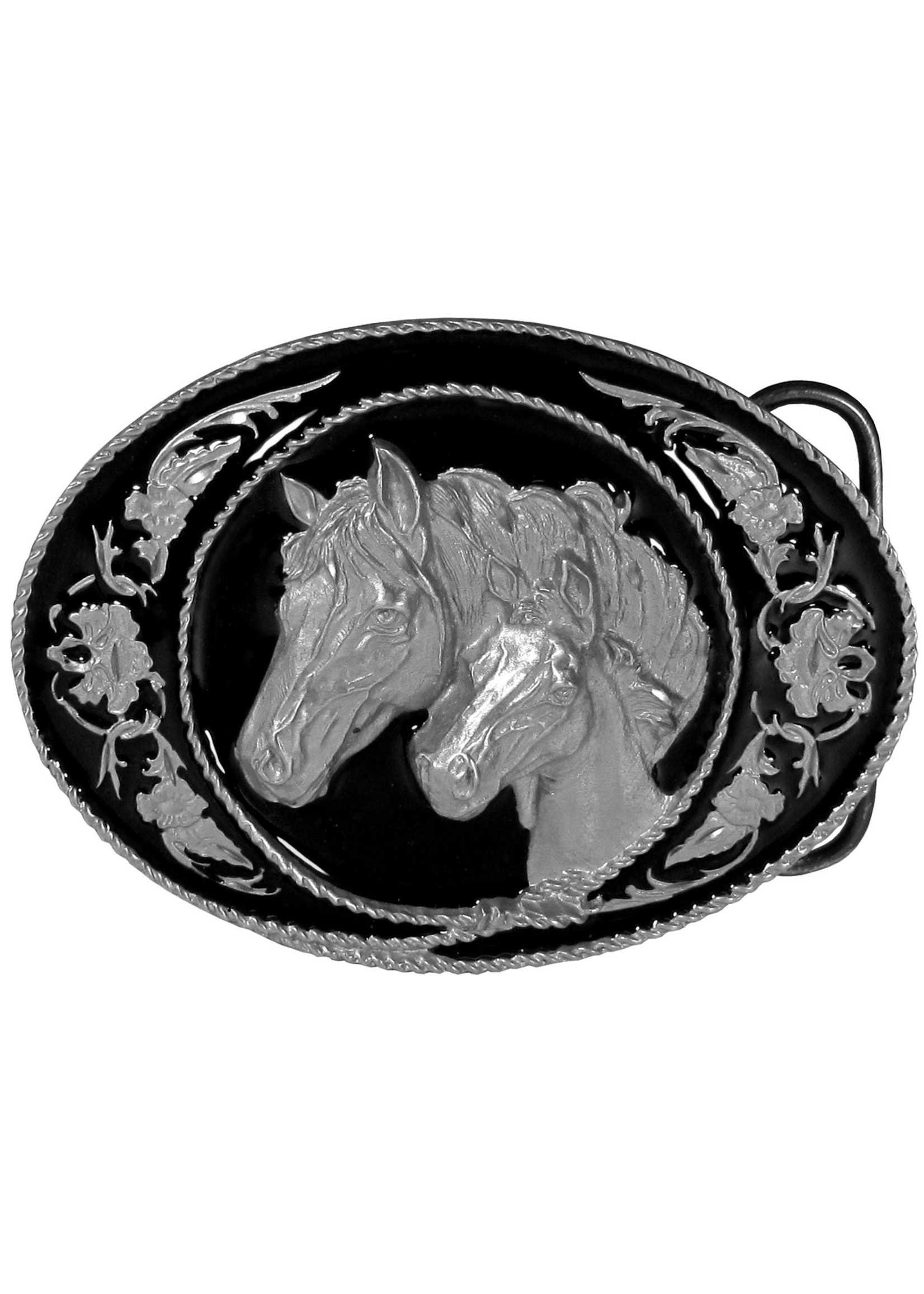 Siskiyou Gifts Horse and Colt Enameled Belt Buckle A5D