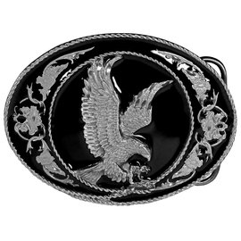 Siskiyou Gifts Eagle with Western Scroll Enameled Belt Buckle G5D