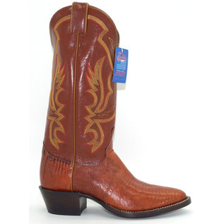 Justin Men's Exotic Western Boot with Peanut Brittle Lizard Foot 8303