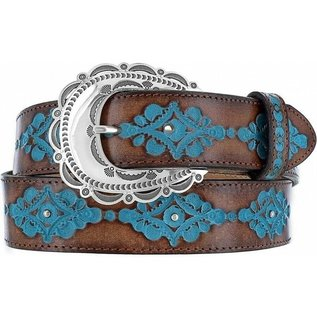 Brighton Ladies Brown Anasazi Turquoise Belt C21465