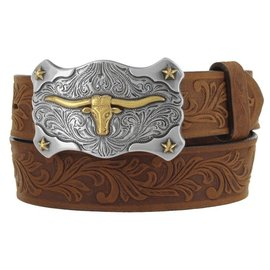 Tony Lama Kid's Aged Bark Little Texas Western Belt C60119