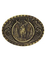 Attiude Buckles Heritage Outdoor Series Wild Stag Carved Buckle
