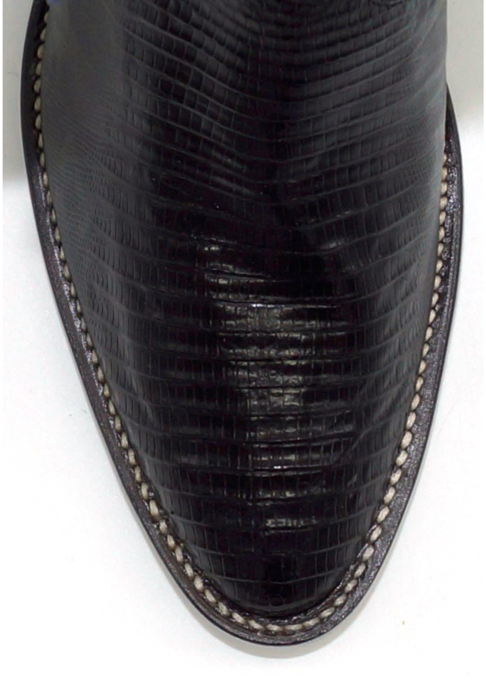 Justin Men's Exotic Western Boot with Black Iguana Lizard 8313