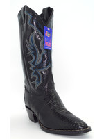 Justin Men's Exotic Western Boot with Black Iguana Lizard 8313