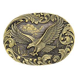 Attiude Buckles Soaring Eagle Filigree Heritage Attitude Belt Buckle 60803C