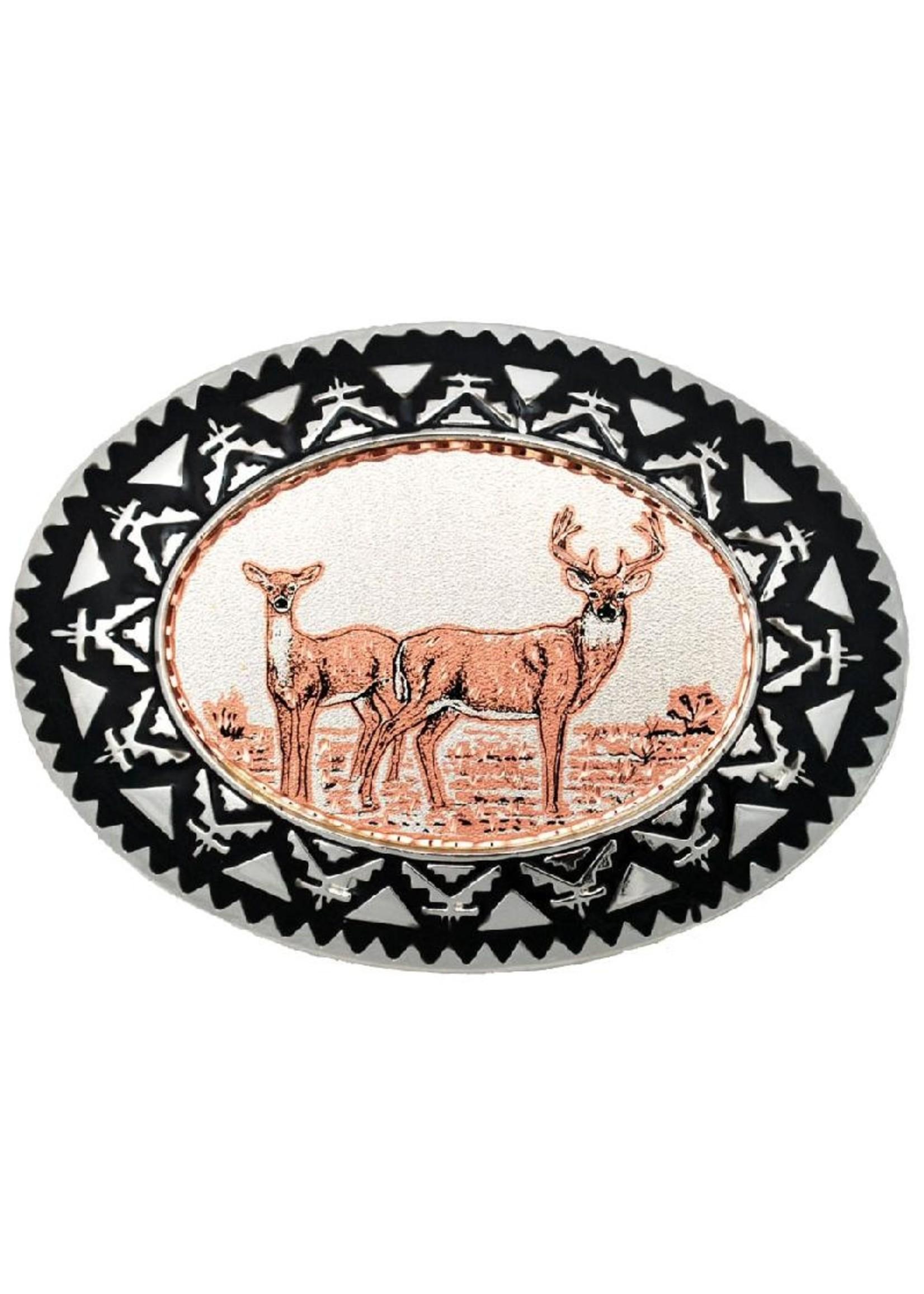 Copper Deer Belt Buckle  BB-24