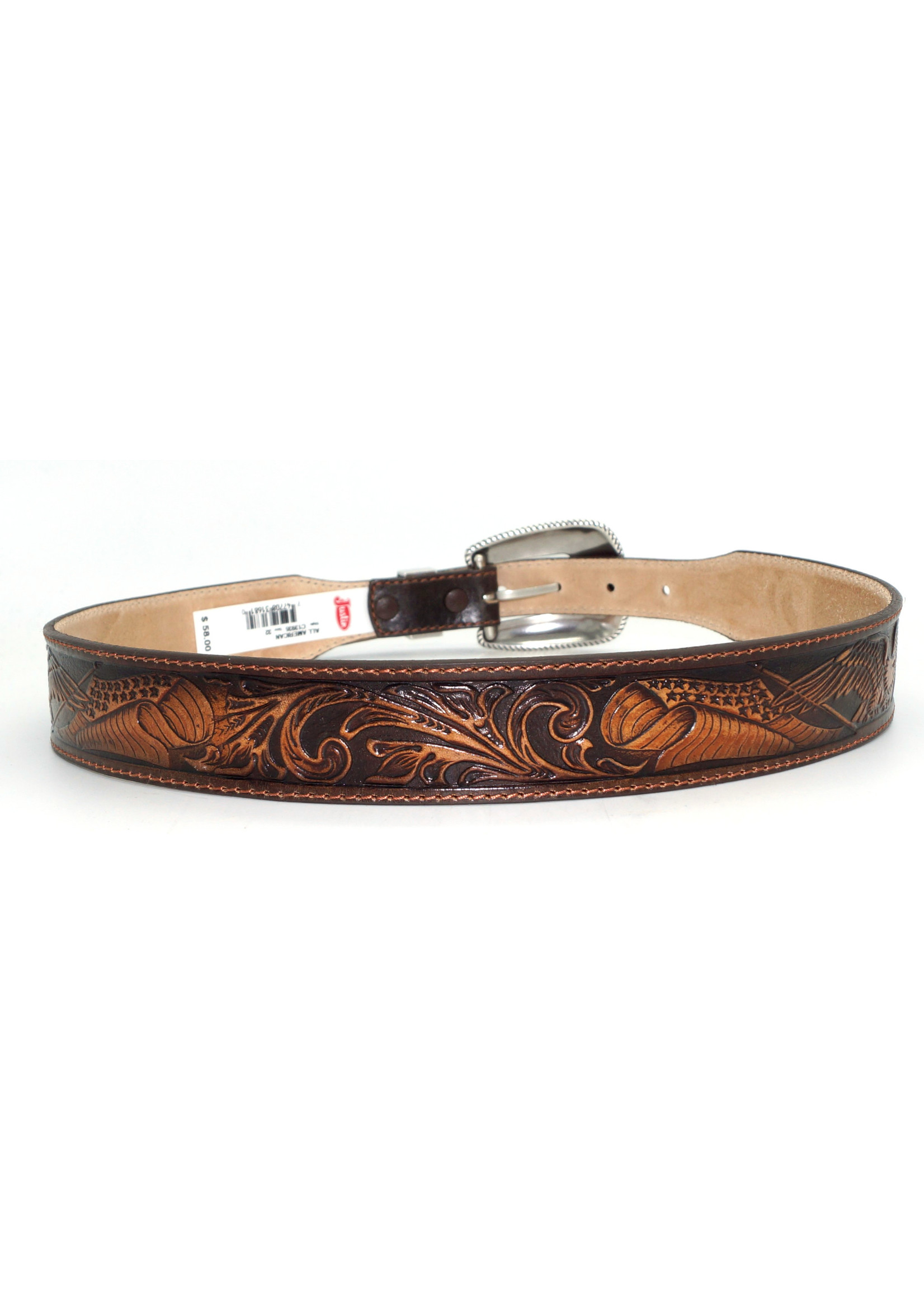 "Justin Men's 1 1/2"" Brown All American C13935"