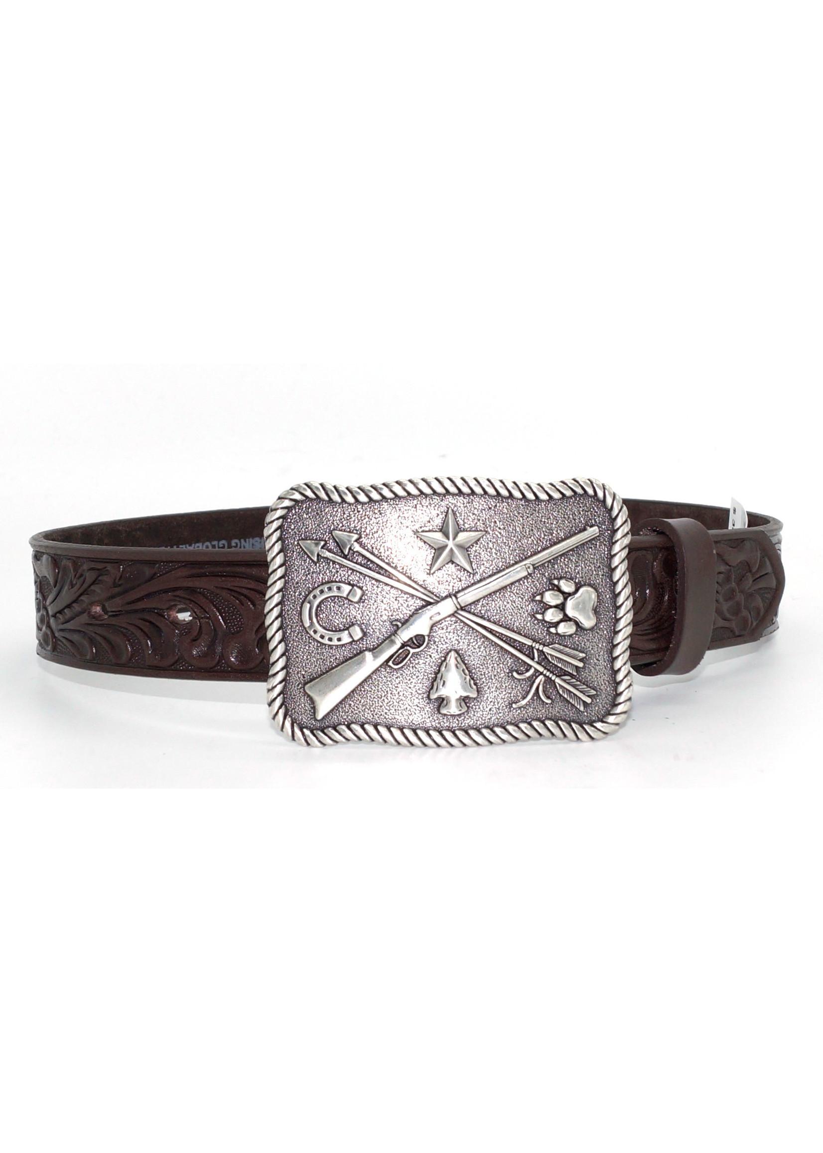 Tony Lama Children's Cowboy & Indian Leather Belt C60238
