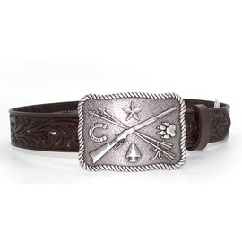 Tony Lama Children's Cowboy & Indian Leather Belt C60238