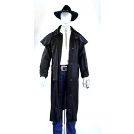 Black Australian Outback Long Duster Jacket