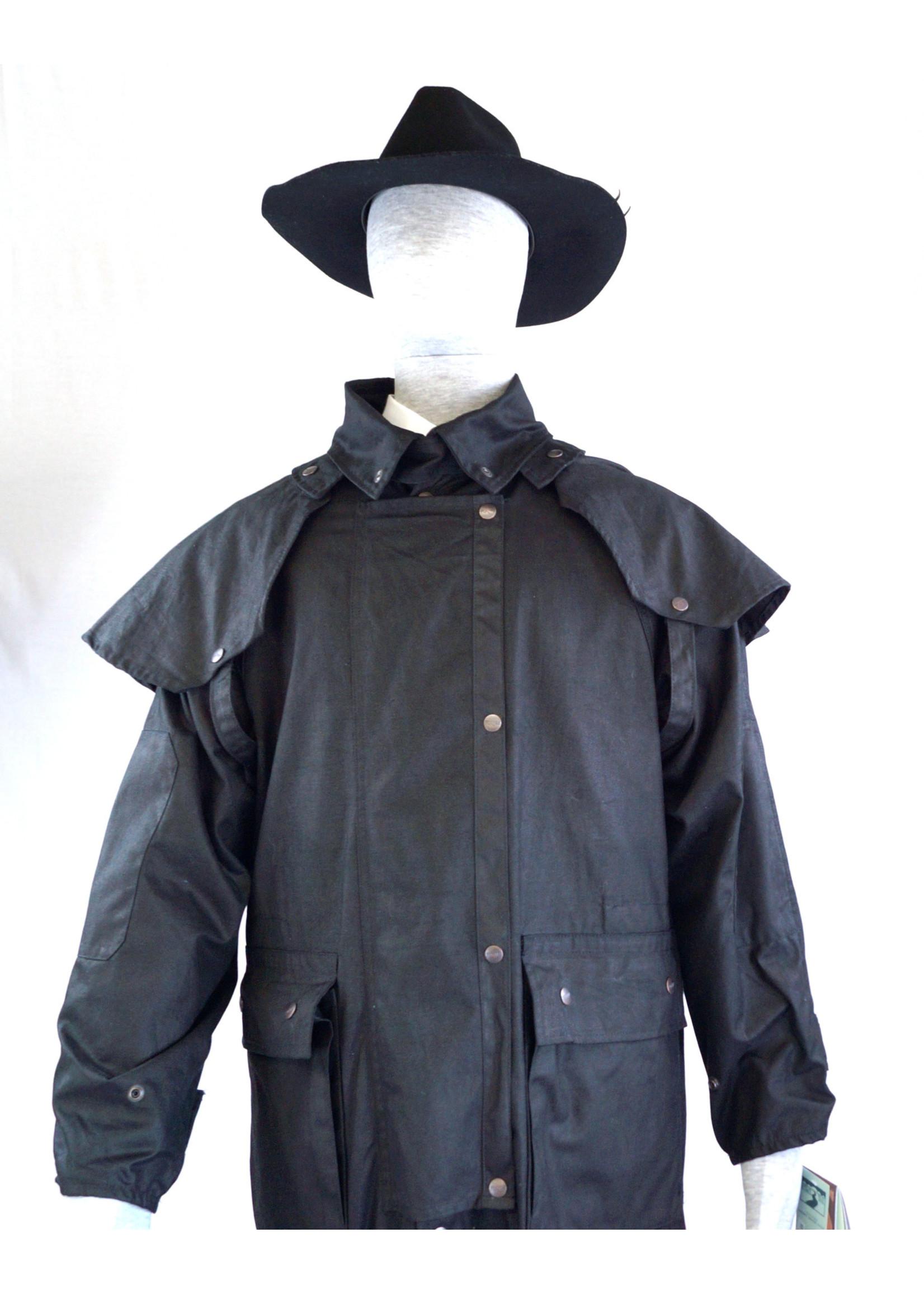 Black Australian Outback Long Duster Jacket