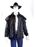 Black Australian Outback Short Duster Jacket