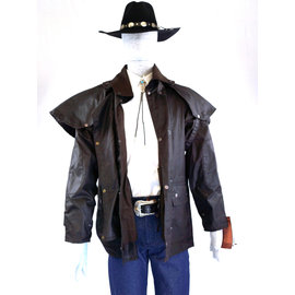 Brown Australian Outback Short Duster Jacket