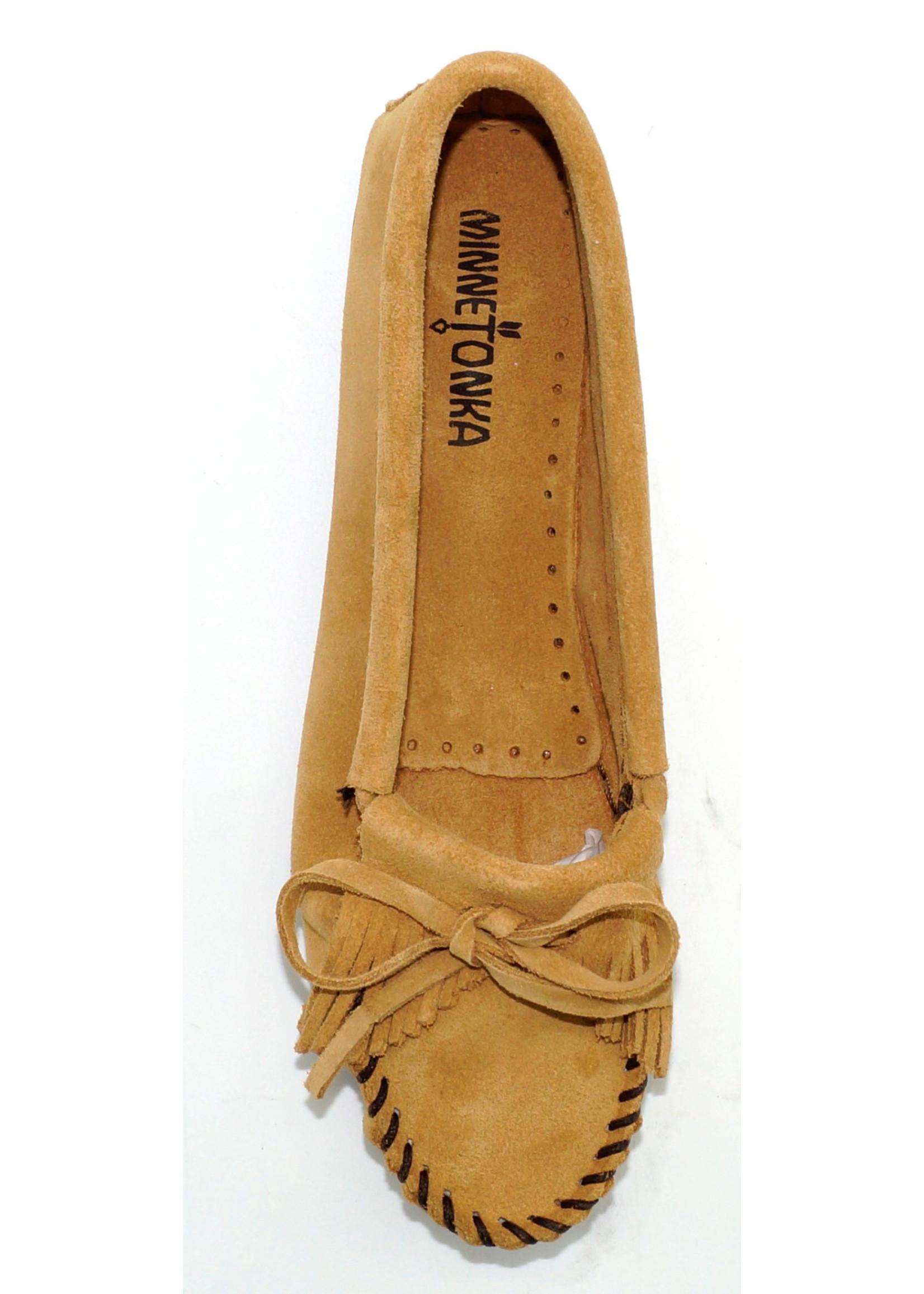 Minnetonka Women's Kilty Hardsole Taupe - 407T