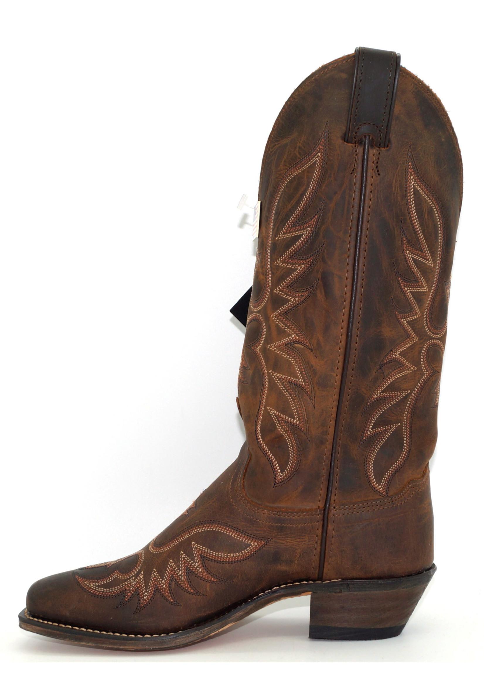 Abilene Women's Brown Cowhide Western 9108