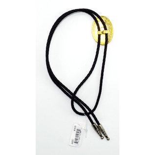 Silver Gold Scroll Bolo Tie - 22267