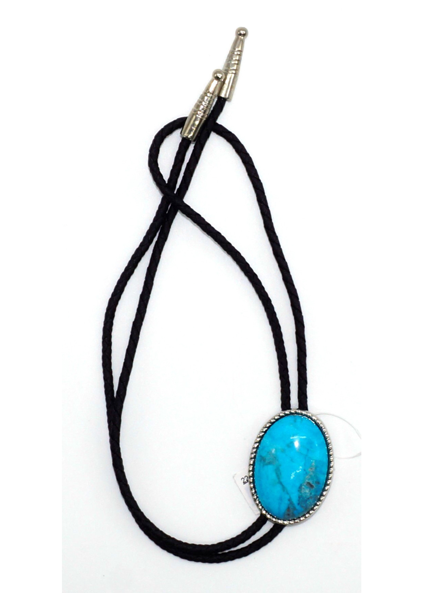 M&F Turquoise Western Double S Bolo Tie