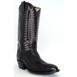 Men's Black Lizard Boots - 844