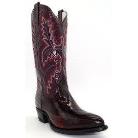 Men's Black Cherry Eel Skin Boots - 956