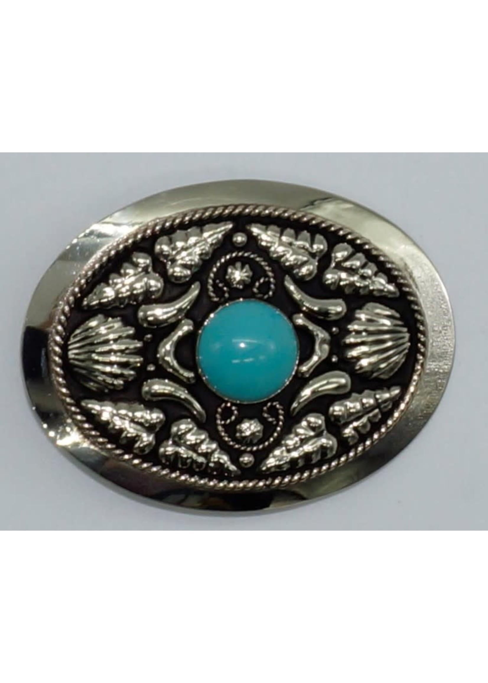 FR-844/ German Silver- Genuine Turquoise