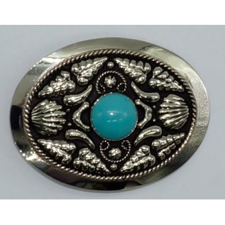 FR-844/ German Silver- Genuine Turquoise