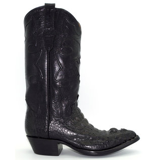 J8096- Crocodile Skin Black