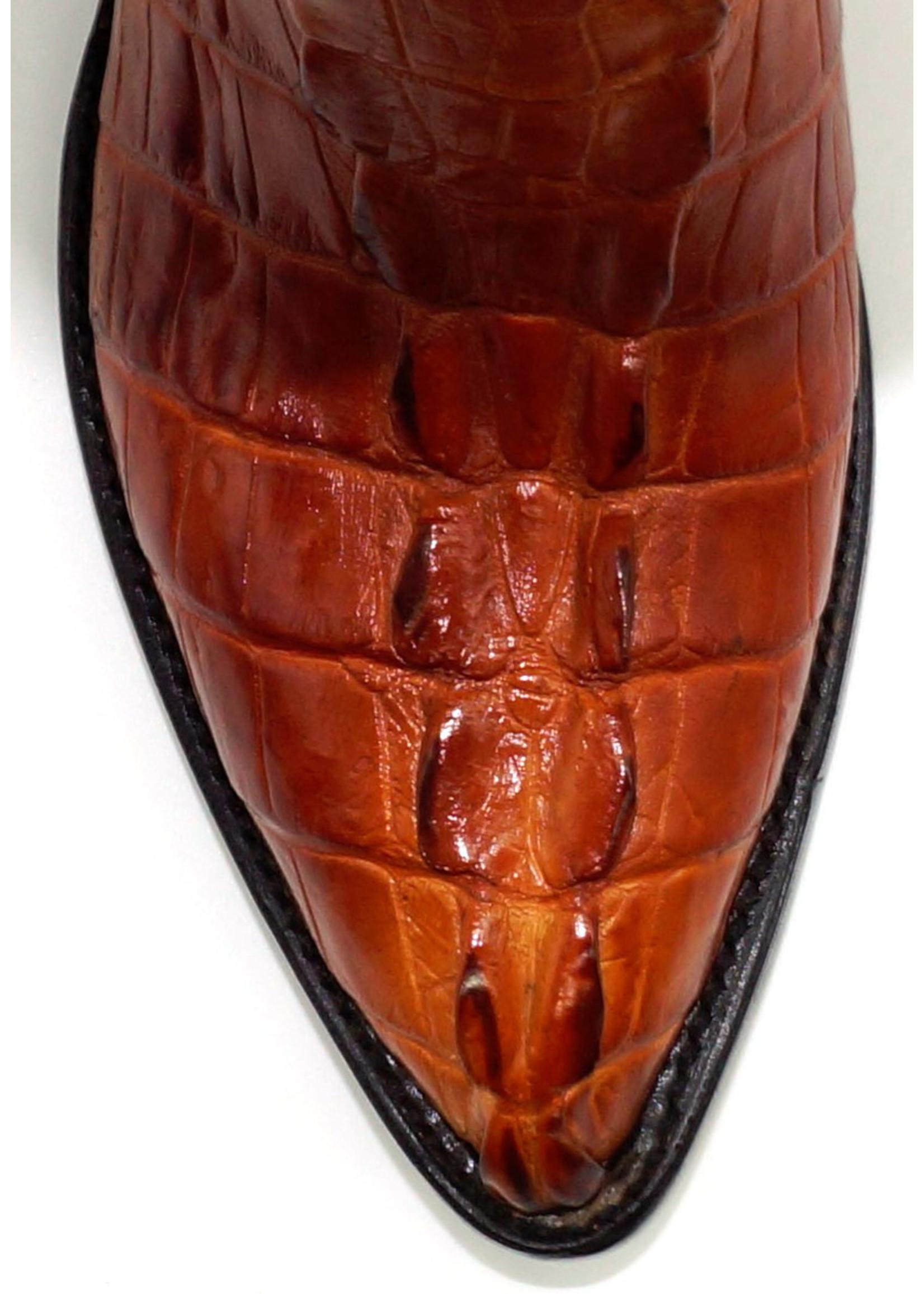 J8094- Crocodile Skin Cognac