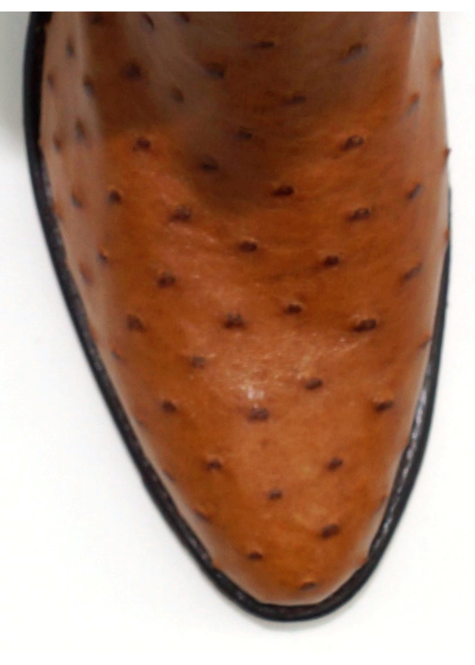 Dan Post DP0303R- Ostrich Skin / Cognac