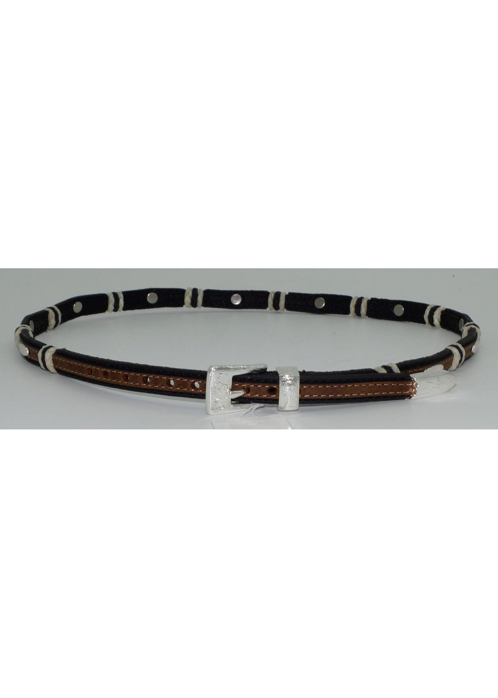 Justin 5303- 5/8  Stockyards Hatband /Black