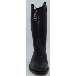 Dan Post Men's Black Western Elk Leather Boot - 6538
