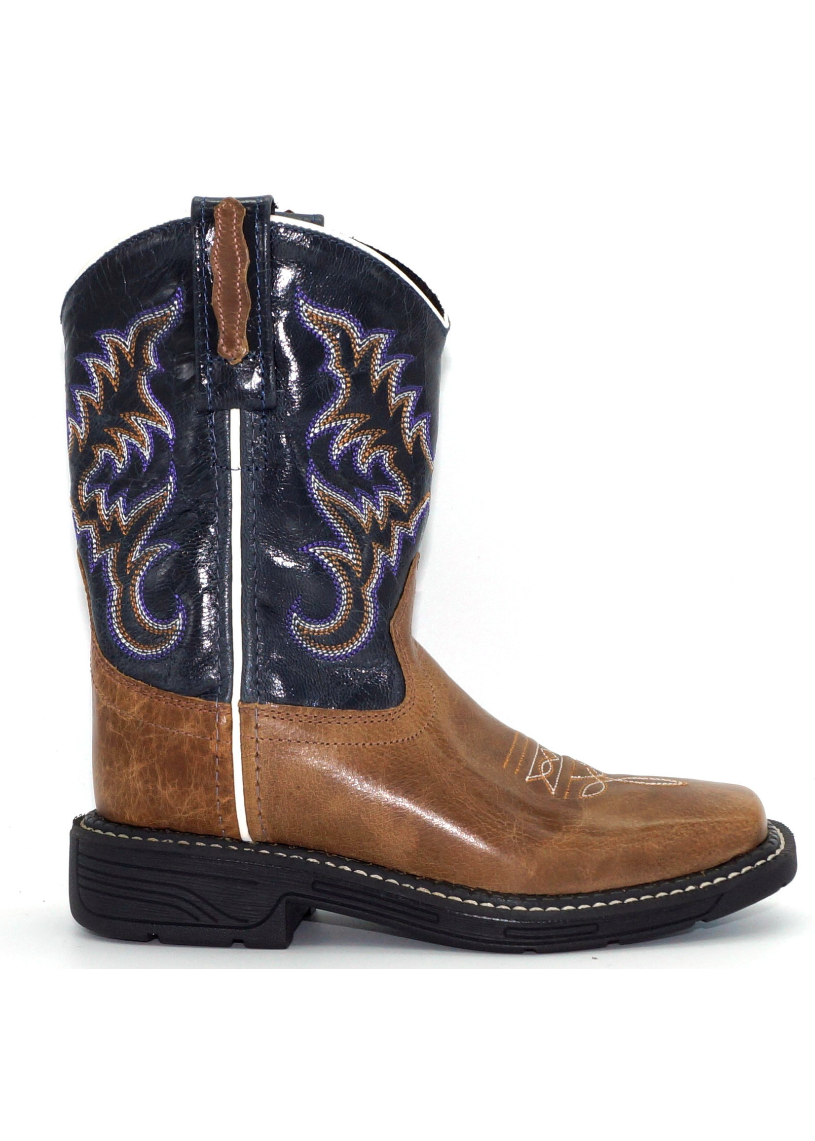 Old West Children's All over Leather Western Boot WB1002