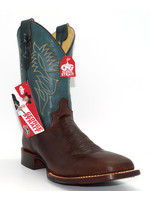 Justin Men's Check Yes Brown George Strait Collection - GS8004