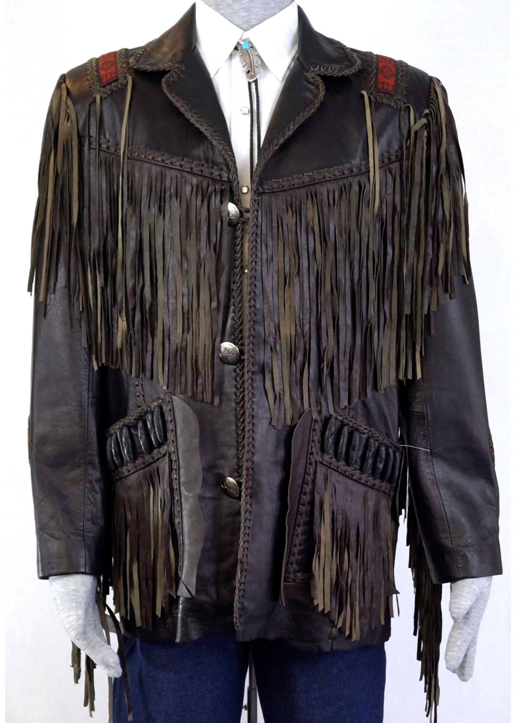 758-35/ Fringe Jacket-Black