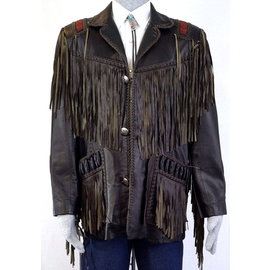 758-35/ Fringe Jacket-Black