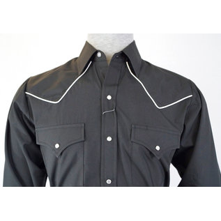 Ely Men's Long Sleeve Western Shirt with Contrast Piping