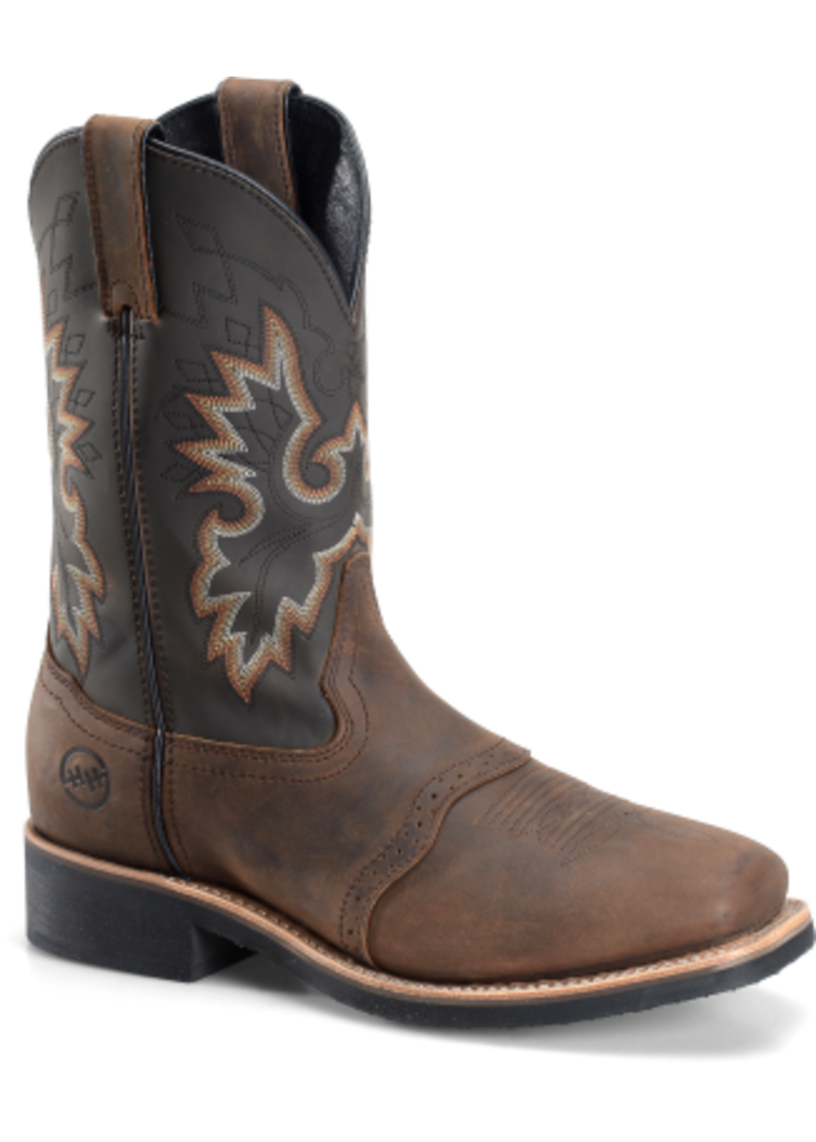 """Double H Men's 11"""" Wide Square Toe Safety Toe Roper DH4658"""