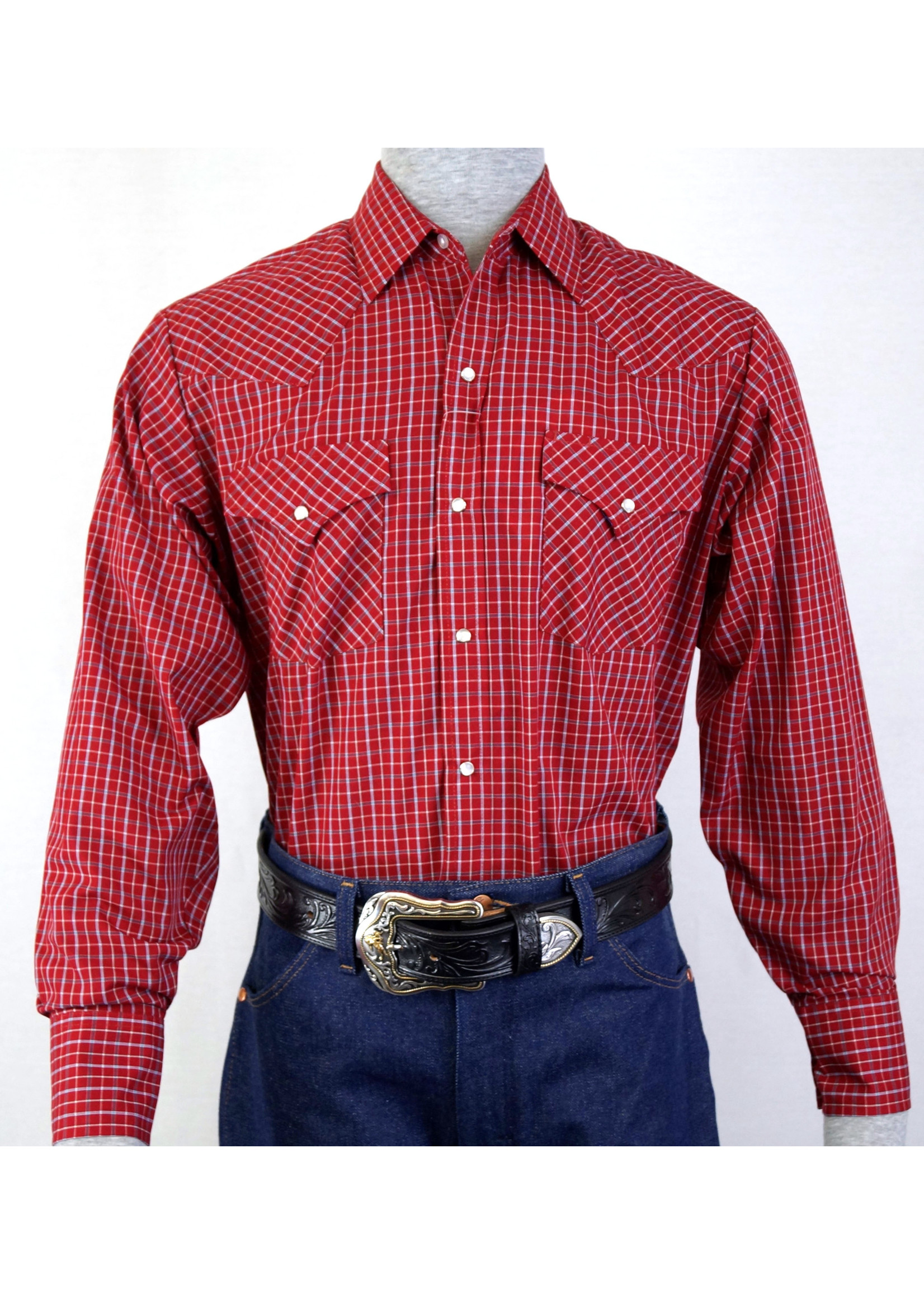 Ely Men's Long Sleeve Red Checkered Shirt