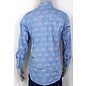 Ely Men's Long Sleeve Blue With Aztec Pattern