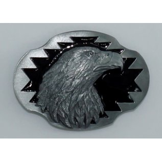 Siskiyou Gifts Eagle Profile Enameled Belt Buckle AG44E